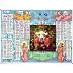 Calendrier de naissance plastifié année 1962 Idée cadeau original anniversaire fête noël neuf