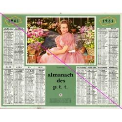 Calendrier de naissance plastifié année 1961 v02 Idée cadeau original anniversaire fête noël neuf