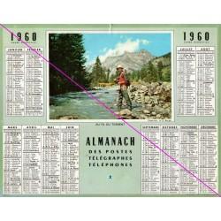 Calendrier de naissance plastifié année 1960 v02 pêcheur Idée cadeau original anniversaire fête noël neuf