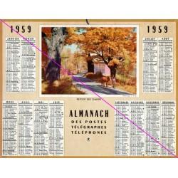 Calendrier de naissance plastifié année 1959 Idée cadeau original anniversaire fête noël neuf
