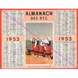 Calendrier de naissance plastifié année 1953 Idée cadeau original anniversaire fête noël neuf