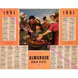 Calendrier de naissance plastifié année 1951 Idée cadeau original anniversaire fête noël neuf