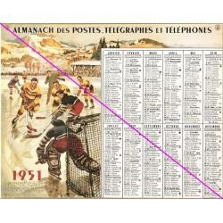 Calendrier de naissance plastifié année 1951 v02 Idée cadeau original anniversaire fête noël neuf