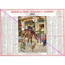 Calendrier de naissance plastifié année 1943 v02 Idée cadeau original anniversaire fête noël neuf