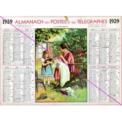 Calendrier de naissance plastifié année 1939 v02 Idée cadeau original anniversaire fête noël neuf