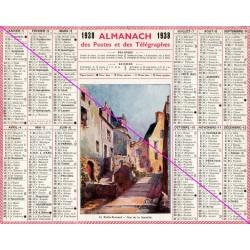 Calendrier de naissance plastifié année 1938 v02 Idée cadeau original anniversaire fête noël neuf