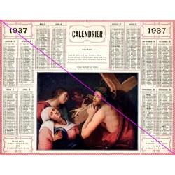 Calendrier de naissance plastifié année 1937 Idée cadeau original anniversaire fête noël neuf