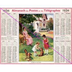Calendrier de naissance plastifié année 1936 Idée cadeau original anniversaire fête noël neuf