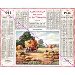 Calendrier de naissance plastifié année 1935 Idée cadeau original anniversaire fête noël neuf