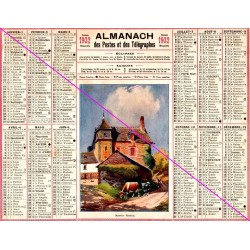 Calendrier de naissance plastifié année 1932 Idée cadeau original anniversaire fête noël neuf