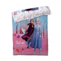 Couette imprimée Frozen lit La reine des neiges 2 v02 / 1 personne 140x200 cm IDEE CADEAU anniversaire noel NEUF