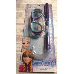 Lot de lunettes + tuba de Plage piscine Frozen reine des neiges enfant idée cadeau neuf