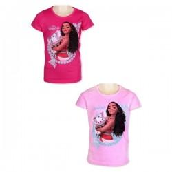 T Shirt manches courtes Vaiana rose du 2 au 6 ans licence officielle Disney VETEMENT NEUF