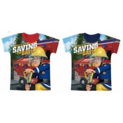 T Shirt manches courtes Sam le Pompier du 2 au 6 ans licence officielle vêtement garçon NEUF