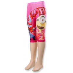 Ensemble Leggings 3/4 + t shirt Minions fille rose du 4 AU 10 ans fille vêtement sous licence officielle NEUF