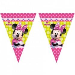 Guirlande fanions Minnie Bow-Tique™ 2,3 mètres enfant fille gouter anniversaire fête neuve