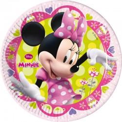 Lot de 8 Assiettes Minnie licence Disney 23 cm gouter enfant anniversaire fête neuve