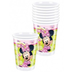 Lot de 8 verres plastiques Minnie licence Disney 200 ml gouter enfant anniversaire fête neuve