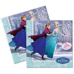 Lot de 20 serviettes papiers La Reine des Neiges Frozen 33x33 cm fête gouter d'anniversaire enfant neuve