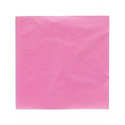LOT DE 50 Serviettes en papier fuchsia 38 x 38 cm FÊTE ANNIVERSAIRE RETRAITE MARIAGE NOEL NEUF