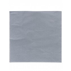 LOT DE 50 Serviettes en papier grises 38 x 38 cm FÊTE ANNIVERSAIRE RETRAITE MARIAGE NOEL NEUF