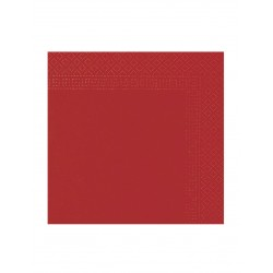 Lot de 50 serviettes rouge 38 x 38 cm anniversaire mariage baptême retraite neuve