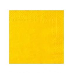 Lot de 50 serviettes jaune vif 38 x 38 cm anniversaire mariage baptême retraite neuve