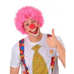Perruque afro/clown rose confort mixte adulte anniversaire mariage retraite enterrement vie célibataire neuve