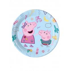 Lot de 8 Assiettes en carton Peppa Pig licence officielle 23 cm enfant gouter d'anniversaire fête neuve