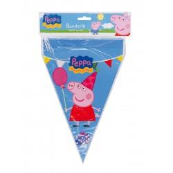 Guirlande à fanions Peppa Pig 20 x 30 cm 3 m licence officielle enfant gouter d'anniversaire fête neuve