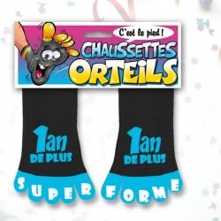 Paire de Chaussettes Orteils 1 ans de plus bleue/noire SOIRÉE HUMOUR IDÉE CADEAU ANNIVERSAIRE NEUVE
