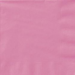 Lot de 50 Serviettes en papier roses 33 x 33 cm anniversaire mariage baptême retraite neuve