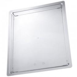 Plateaux prestige rectangle plastique dur réutilisable grand modèle fêtes toutes occasions NEUF
