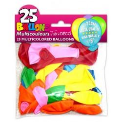Lot sachet de 25 ballons unis décoration de salle fêtes diverses neuf emballés