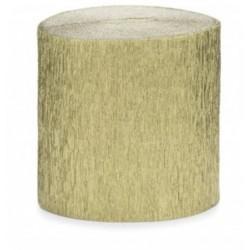 Rouleau de papier crépon Or 10 m loisirs créatif scrapbooking décoration de table ou salle neuf