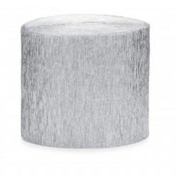 Rouleau de papier crépon Argent 10 m loisirs créatif scrapbooking décoration de table ou salle neuf
