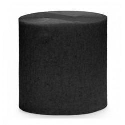 Rouleau de papier crépon Noir 10 m loisirs créatif scrapbooking décoration de table ou salle neuf