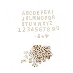 Sachet de lettres et chiffres adhésifs x 120 pièces loisirs créatifs scrapbooking déco mariage baptême neuve