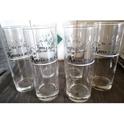 Lot de 6 verres apéritif jus de fruits bière grande contenance 50 cl Luminarc collection Kriss-Laure neuf