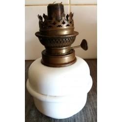 Ancien pied de lampe à pétrole réservoir en céramique blanc occasion pour Collectionneurs ou restaurateurs
