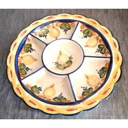Ancien grand plat apéritif porcelaine présentation numerotée collection très bonne état