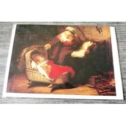 Carte postale avec enveloppe collection Rembrandt la sainte famille 1645 neuve
