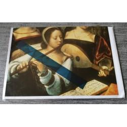 Carte postale avec enveloppe collection Maitre des demi figures musiciennes 1530-1540 neuve