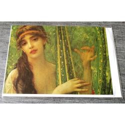 Carte postale avec enveloppe collection ERNEST HEBERT la musique 1880 neuve