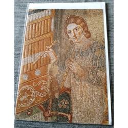 Carte postale avec enveloppe collection Mozaïque Bizantine musicienne neuve