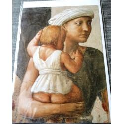 Carte postale avec enveloppe collection MASACCIO St Pierre distribuant des aumones 1401/1428 neuve