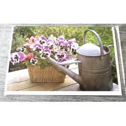 Carte postale avec enveloppe sans texte anniversaire fête retraite etc... floral 02 neuve