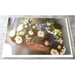 Carte postale avec enveloppe sans texte anniversaire fête retraite etc... floral 03 neuve