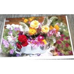 Carte postale avec enveloppe sans texte anniversaire fête retraite etc... floral 04 neuve