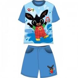 Ensemble T shirt + Short Bing 2 pièces du 2 au 6 ans GARCON VETEMENT LICENCE OFFICIELLE NEUF